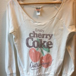 Junk Food cherry coke tee. Size S